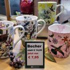 Angebot: Porzellanbecher € 7,95. Wir bieten verschieden Motive feiner Porzellanbecher statt € 14,95 stark reduziert an.