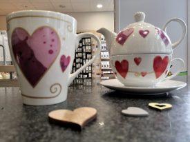 Herzbecher und Tea for one